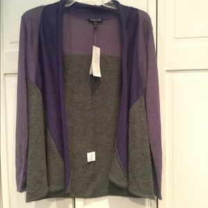 Eileen Fisher gray/ lilac light weight sweater S